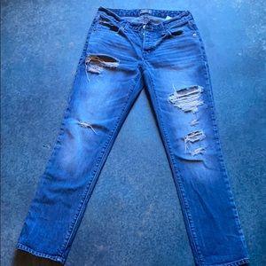 Size 24 slim boyfriend jeans Abercrombie & Fitch